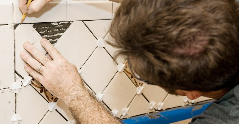 Tiling Bathroom Tiling, Cleaning Old and Discolored Grout, Fixing Shower Brackets, Floor Tiling